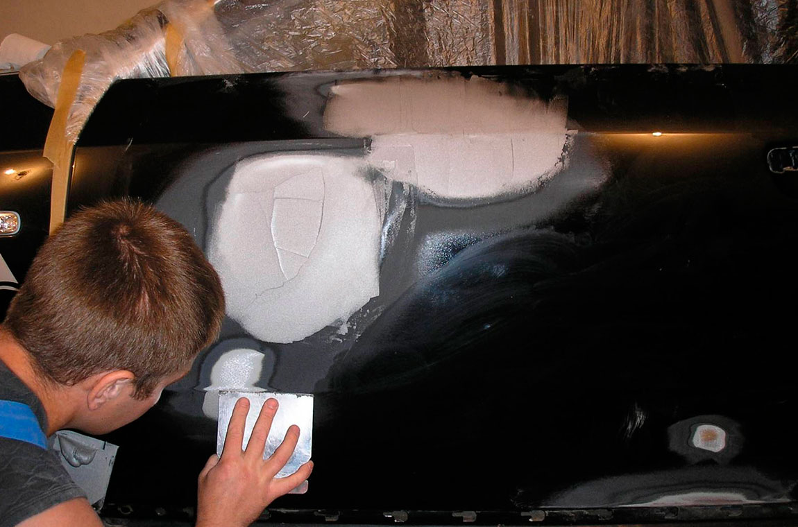 шпаклевка кузова автомобиля